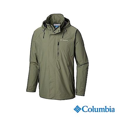 Columbia 哥倫比亞 男款-OT防水外套-軍綠 UWE12840AG