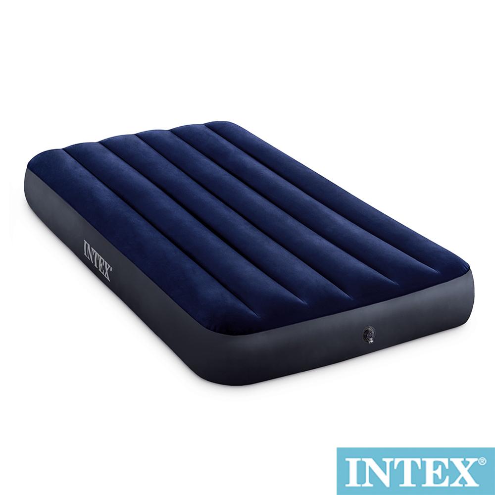 INTEX 經典單人(新款FIBER TECH)充氣床-寬99cm(64757)