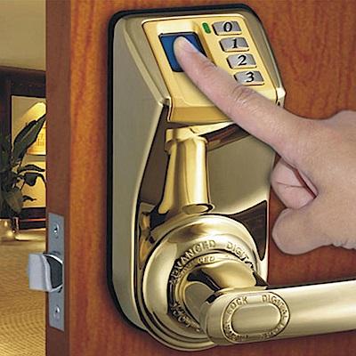 3398指紋鎖 愛迪爾電子鎖(亮金)指紋密碼鎖 美國銷售第一 感應鎖 智能鎖 (不含安裝)