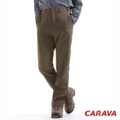 CARAVA 男防潑保暖軟殼褲(暗橄綠)