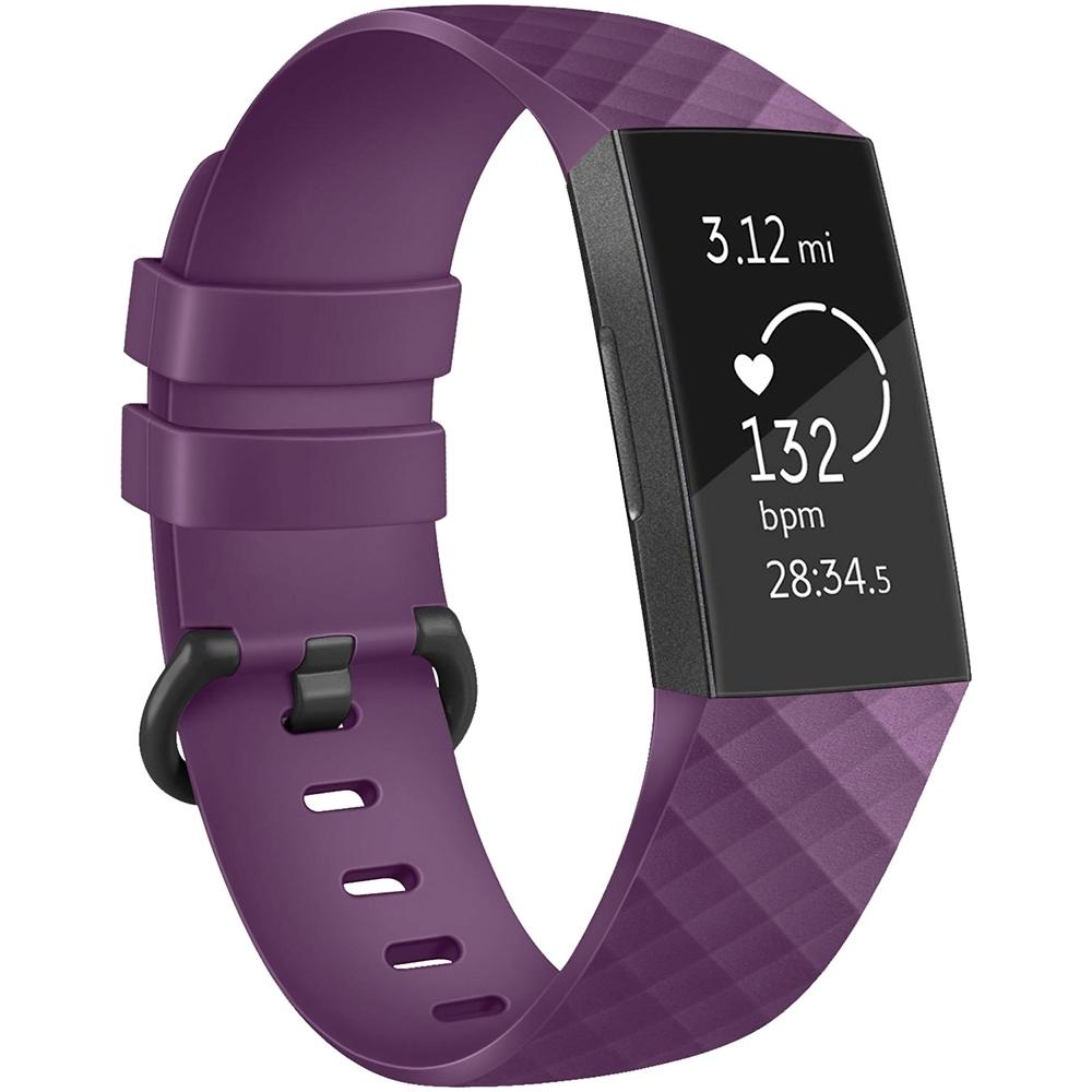 Fitbit Charge 3 智能手環運動腕帶 3D鑽石紋 防水透氣硅膠錶帶 product image 1