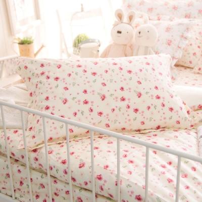 OLIVIA  花香 黃 標準雙人床包美式枕套三件組 200織精梳純棉 台灣製