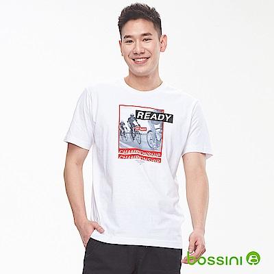 bossini男裝-印花短袖T恤07白