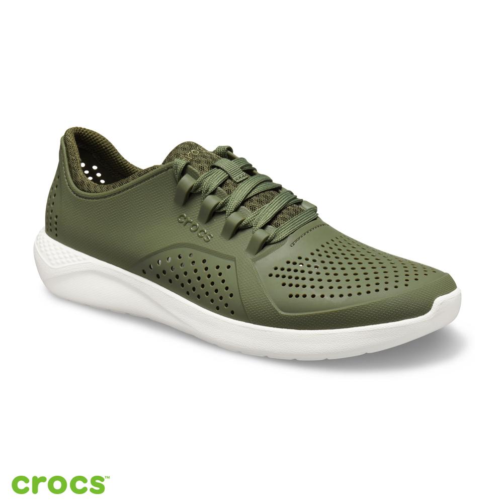 Crocs 卡駱馳 (男鞋) 男士LiteRide徒步繫帶鞋 204967-37P