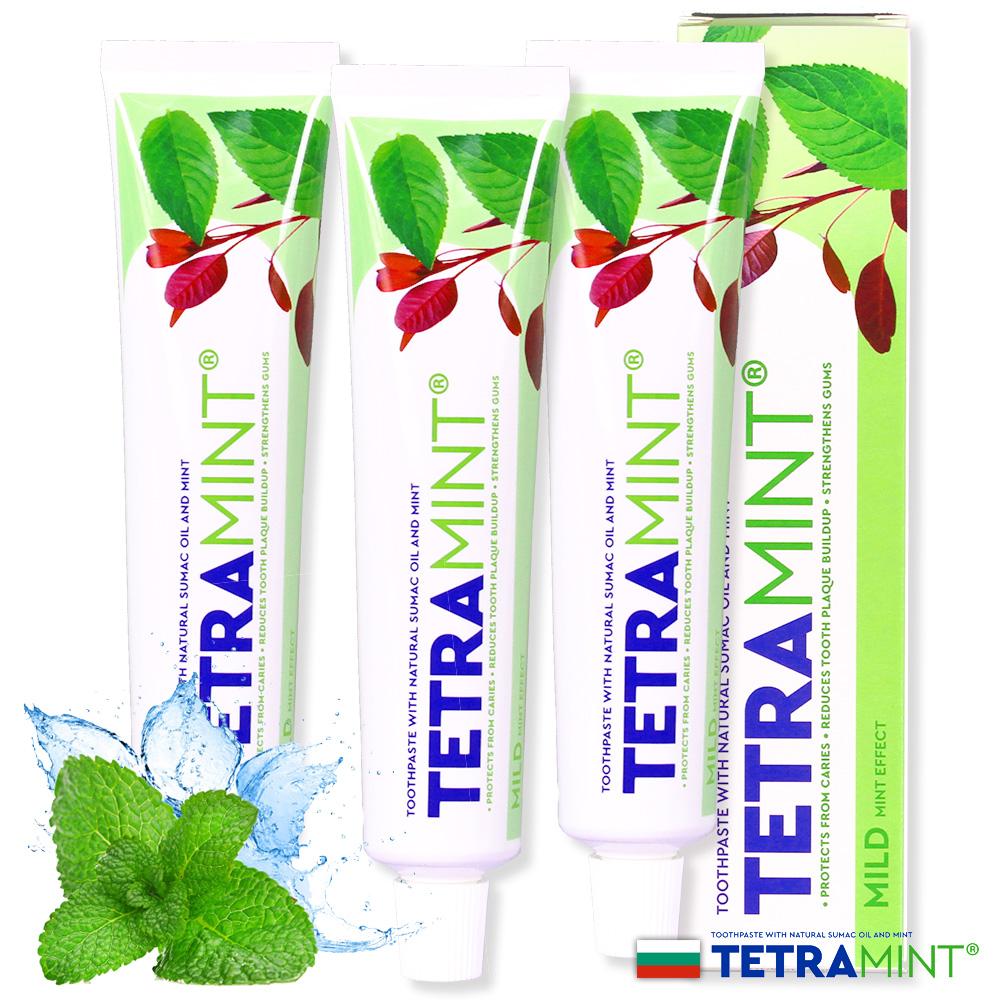 歐洲原裝TETRAMINT強效薄荷潔白牙膏65ml三入