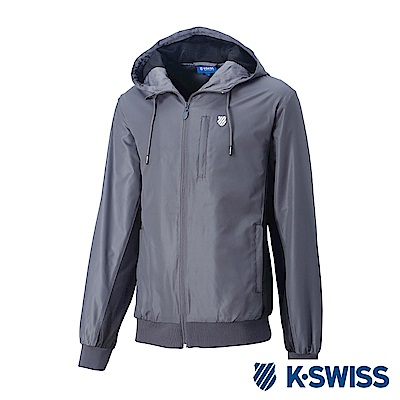 K-SwissContrast Side Panel Windbreaker-女-灰