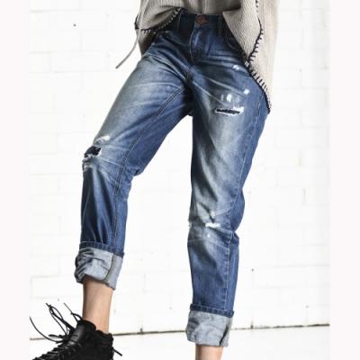 OneTeaspoon牛仔褲 破褲 AWESOME BAGGIES - 女(藍)