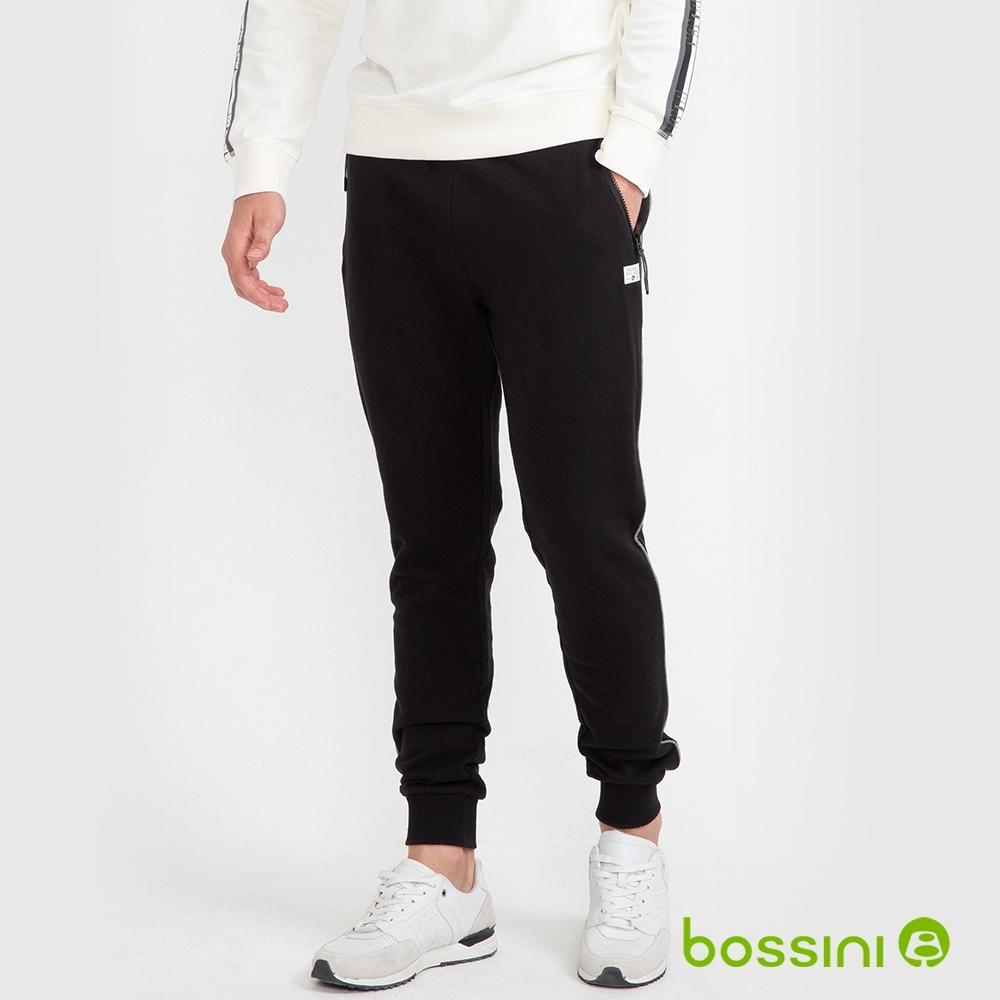 bossini男裝-運動束口長褲03黑