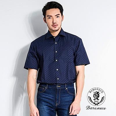BARONECE 格紋紳士質感襯衫(518413-10)
