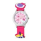 HELLO KITTY 凱蒂貓 45週年限定造型紀念手錶-桃紅/30mm