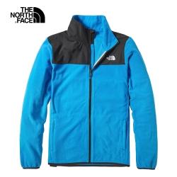 The North Face北面男款湖水藍保暖抓絨外套|49AEW8G