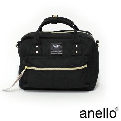 anello 獨特混色花紋手提斜背兩用包 黑色
