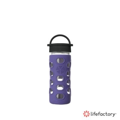 lifefactory 玻璃水瓶平口350ml-紫色(CLA-350-PLB)