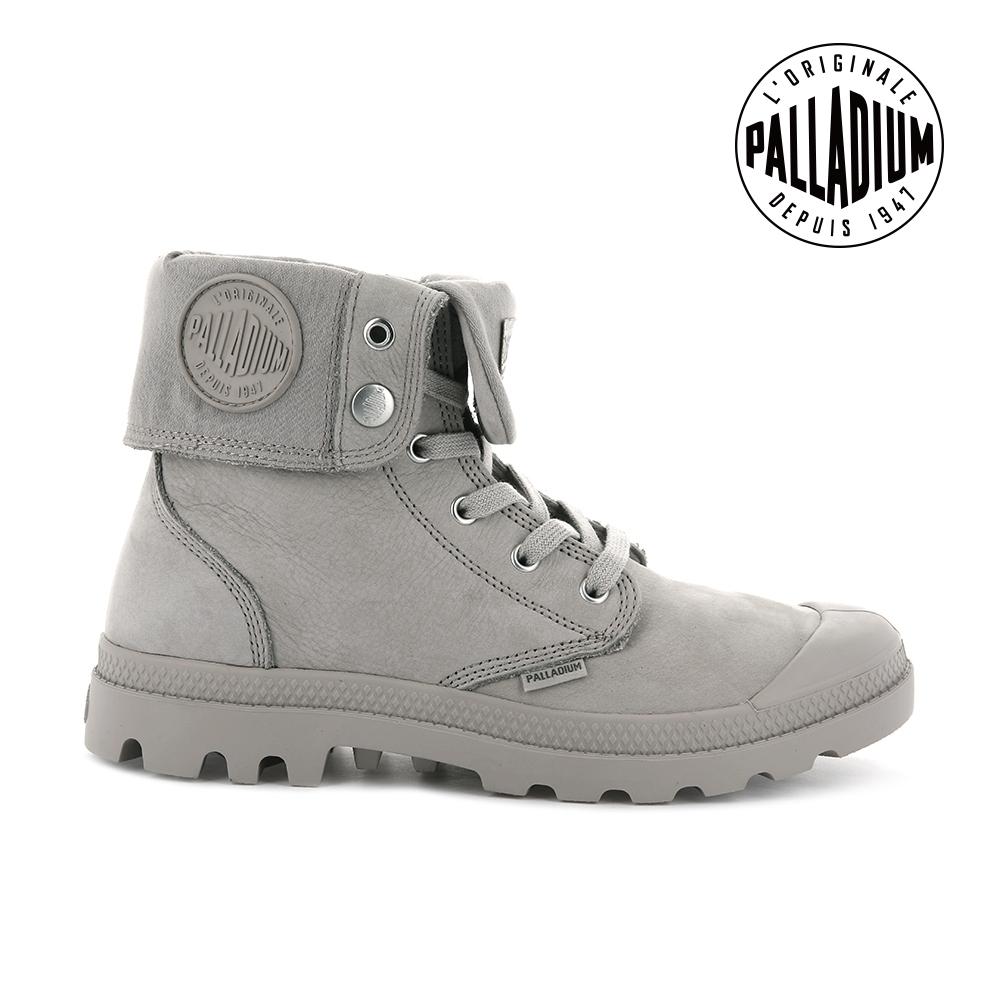 PALLADIUM PAMPA BAGGY NBK反摺皮革靴-中性-淺灰