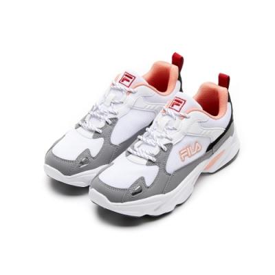 FILA MONSTER 女性慢跑鞋-白灰 5-J907U-142