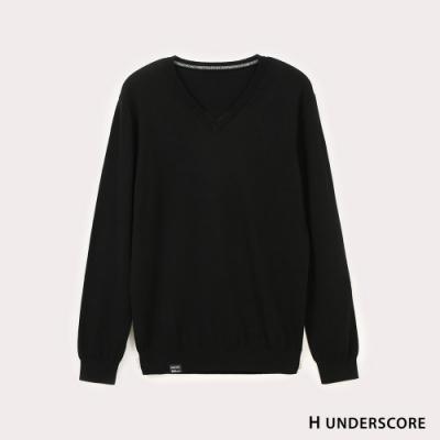 Hang Ten-男裝-純色線衫-黑色