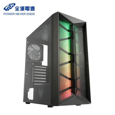 FSP 全漢 CMT211 黑 全鐵網 ARGB 附4風扇 玻璃透側 電競機殼 散熱機殼 電腦機殼