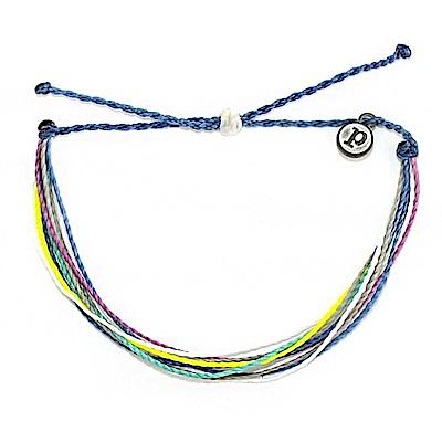 Pura Vida 美國手工HOLIDAZE藍綠黃色系可調式手鍊衝浪海灘防水手繩