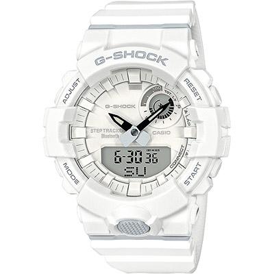 G-SHOCK G-SQUAD藍牙連結健康管理腕錶-白(GBA-800-7A)/48mm