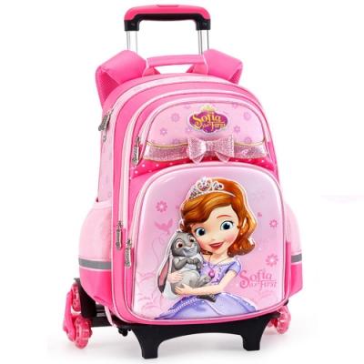 迪士尼小公主蘇菲亞可拆分離式爬樓梯拉桿書包 共3色