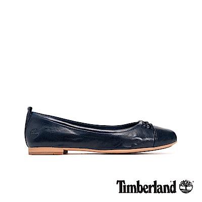 Timberland 女款深藍色皮革芭蕾舞鞋|A1T9O