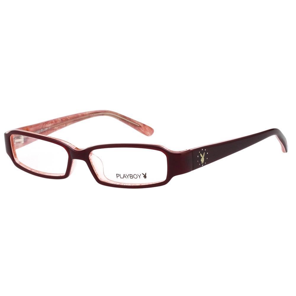 PLAYBOY-時尚光學眼鏡-酒紅色-PB85041 @ Y!購物