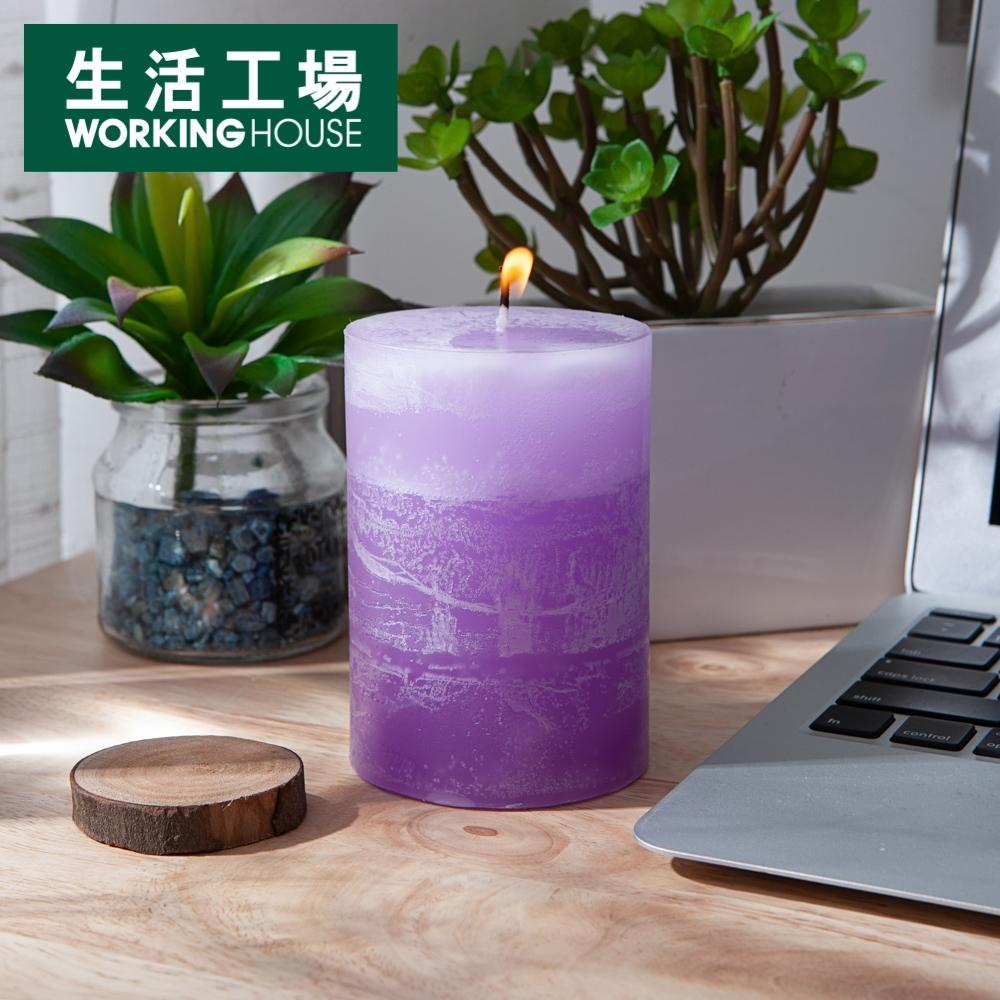 【倒數週年慶全館8折起-生活工場】銀花百合漸層4吋蠟燭