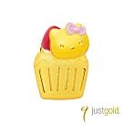 鎮金店Just Gold Hello Kitty 45周年純金系列 黃金單耳耳環-杯子蛋糕