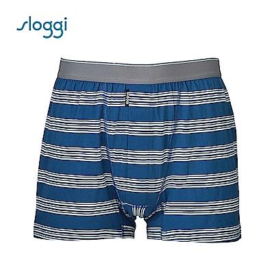 sloggi men Simply Life系列寬鬆平口褲 紳士藍