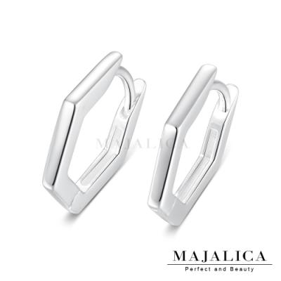 Majalica極簡耳環六角形易扣圈式耳扣女生耳環ins 生日耶誕禮物推薦 單副價格