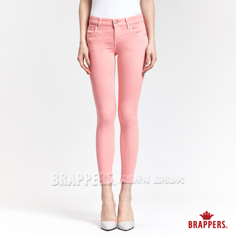 BRAPPERS 女款 LC-Cargo系列-女用中低腰彈性九分褲-粉