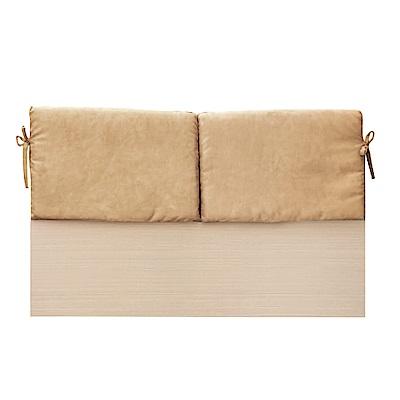 綠活居 蘇亞比5尺亞麻布雙人白橡床頭片(二色)-154.5x8.5x92cm免組
