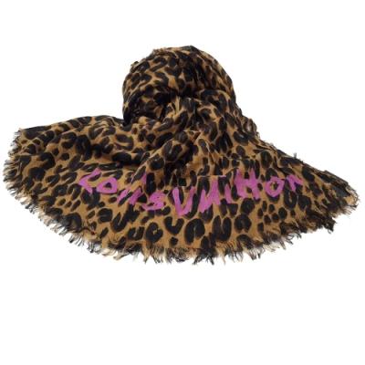 LV M72215 LEOPARD 豹紋時尚圍巾披肩