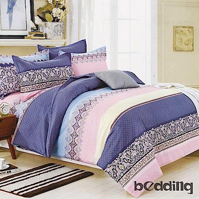 BEDDING-活性印染5尺雙人薄床包涼被組-夏洛特