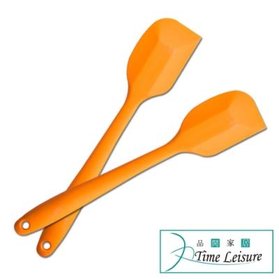 Time Leisure 餐廚烘焙奶油攪拌耐高溫矽膠一體刮刀 2入/顏色隨機