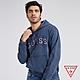 GUESS-男裝-美式刺繡LOGO帽T-藍 原價2790 product thumbnail 1