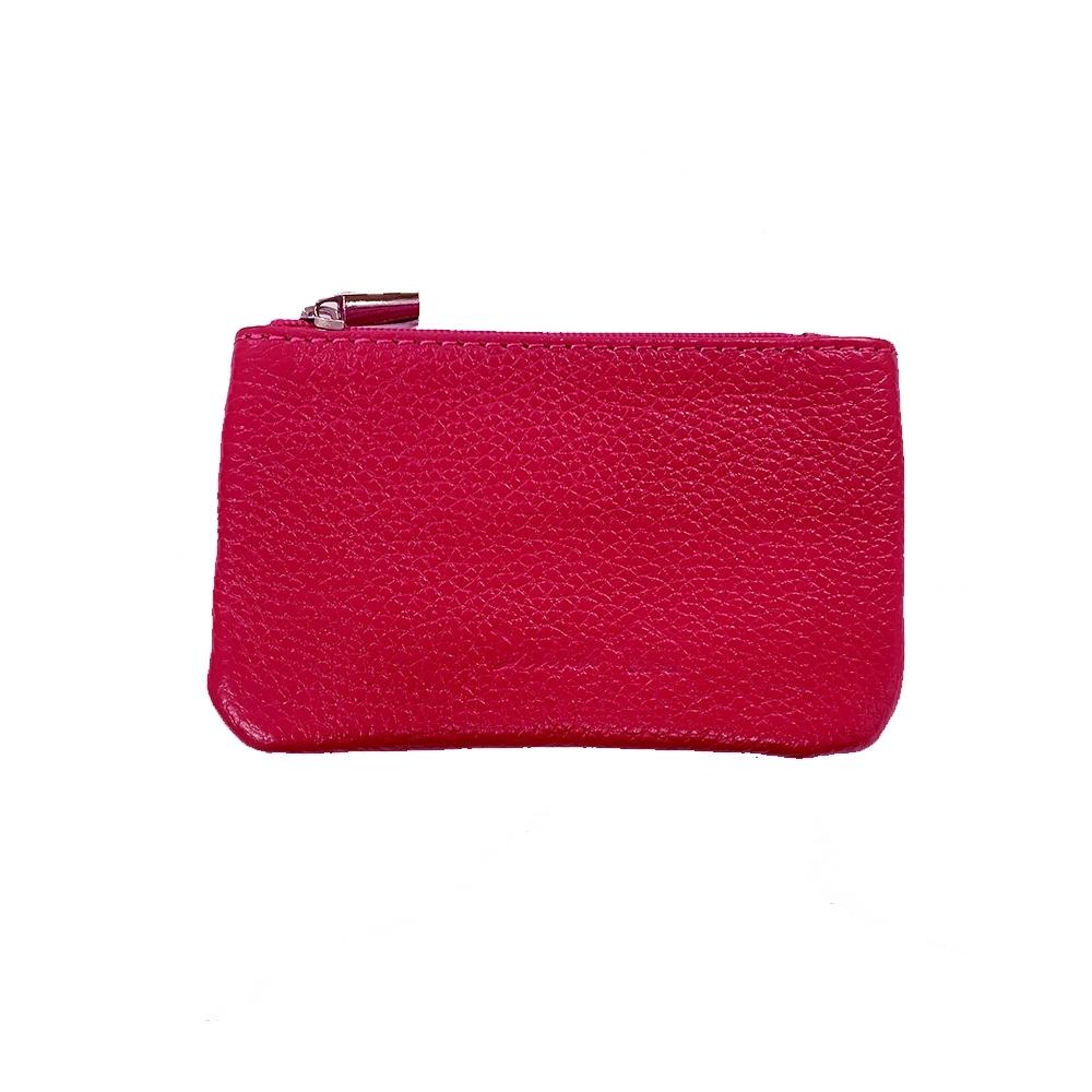 DRAKA 達卡 - 真皮S系列-鑰匙零錢包-桃紅