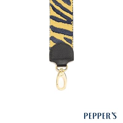 PEPPER S Freedom 編織長背帶 - 黃藍條紋