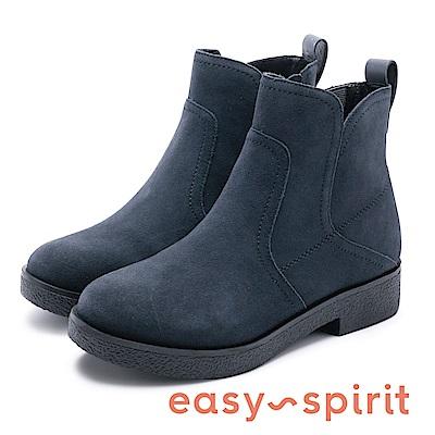 Easy Spirit evXENON 知性帥氣縫邊線中筒靴-絨深藍