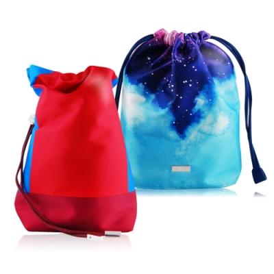 LA MER 海洋拉娜 限量旅行化妝包(束口袋)(兩款隨機出貨)