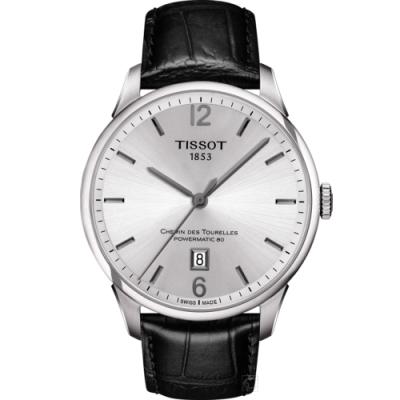 TISSOT 杜魯爾 80小時動力儲存機械錶(T0994071603700)42mm