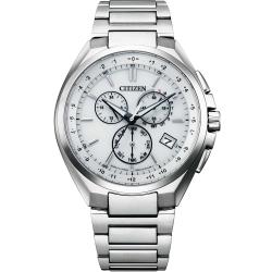 CITIZEN 星辰 光動能電波鈦金屬時尚腕錶  (CB5040-80A)41mm