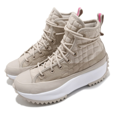 Converse 休閒鞋 Run Star Hike Hi 女鞋 厚底 舒適 增高 球鞋 穿搭 時尚 淺卡其 白 170440C