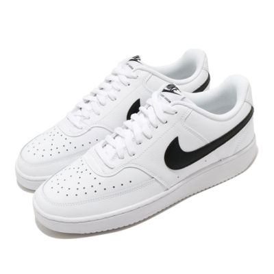 Nike 休閒鞋 Court Vision 運動 男鞋 基本款 舒適 簡約 皮革 球鞋 穿搭 白 黑 CD5463101