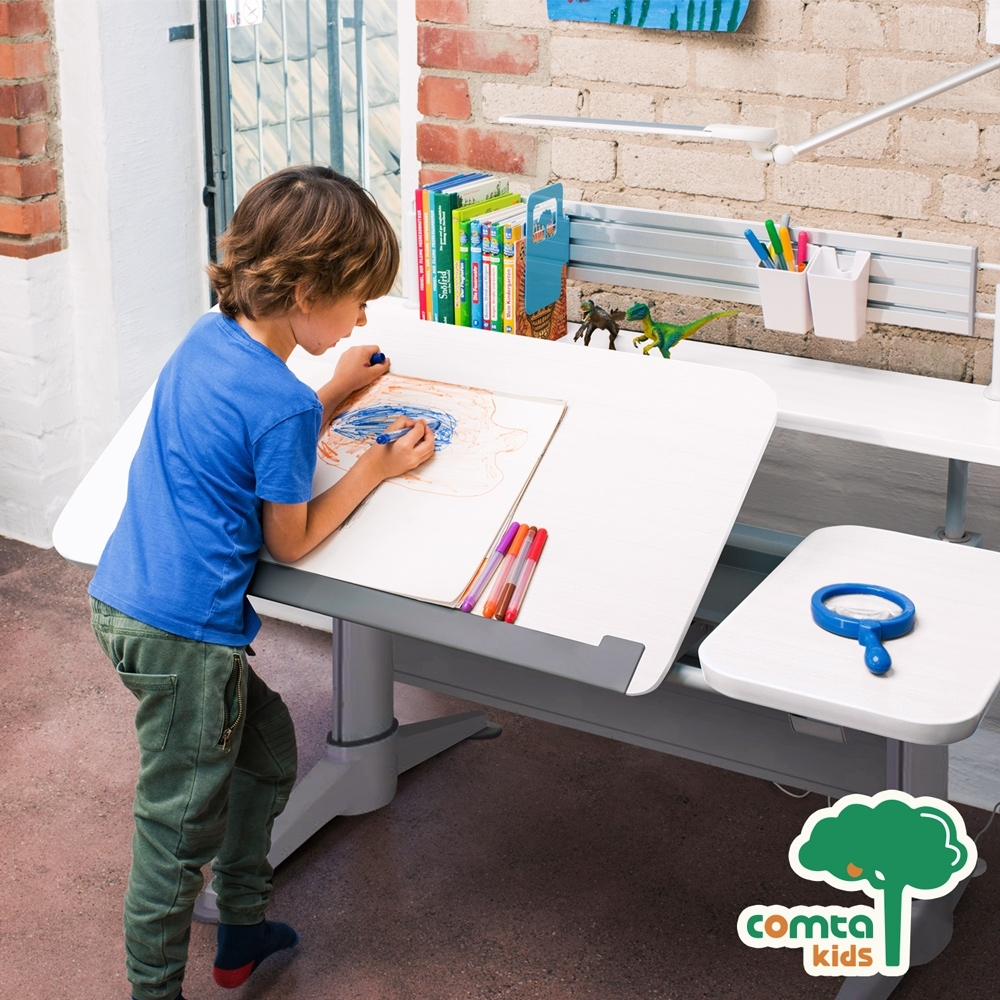 comta kids_MERIT擇優創意兒童成長學習桌‧幅112cm(灰) W112*D80.5*H52~74 cm