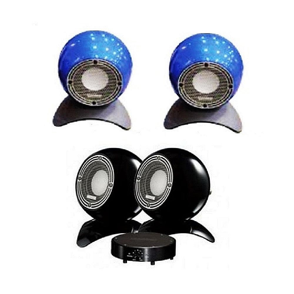 英國 MISSION m-isphere mini 時尚造型喇叭/對 藍色款