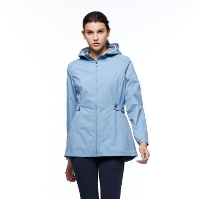 【HAKERS 哈克士】女 3L防水透氣外套(淺灰藍)