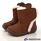 日本Carrot機能童鞋 WAGAMAMA設計暖靴款968棕(寶寶段)