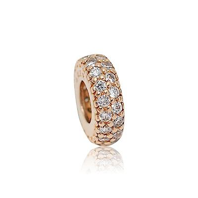 Pandora 潘朵拉 魅力玫瑰金環狀鑲鋯 純銀墜飾 串珠