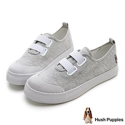 Hush Puppies 鬆緊直套式懶人鞋-灰色